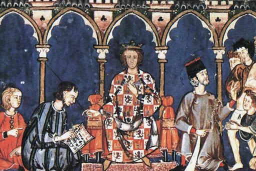 El rey Alfonso X en Toledo