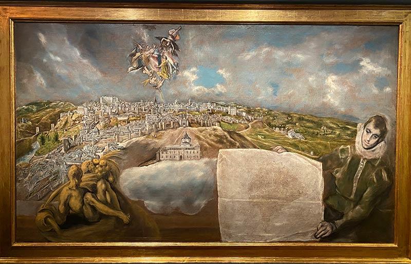 Vista y plano de Toledo del Greco