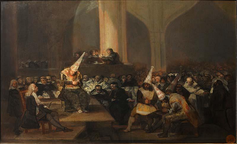 Cuadro de Goya y la inquisición