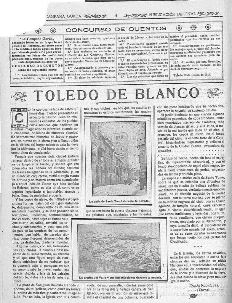 Noticias Toledo con nieve