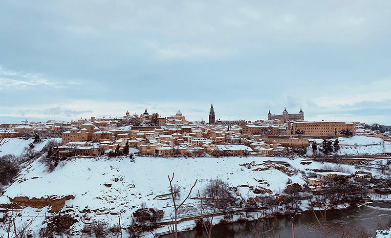 Vista de Toledo Nevado