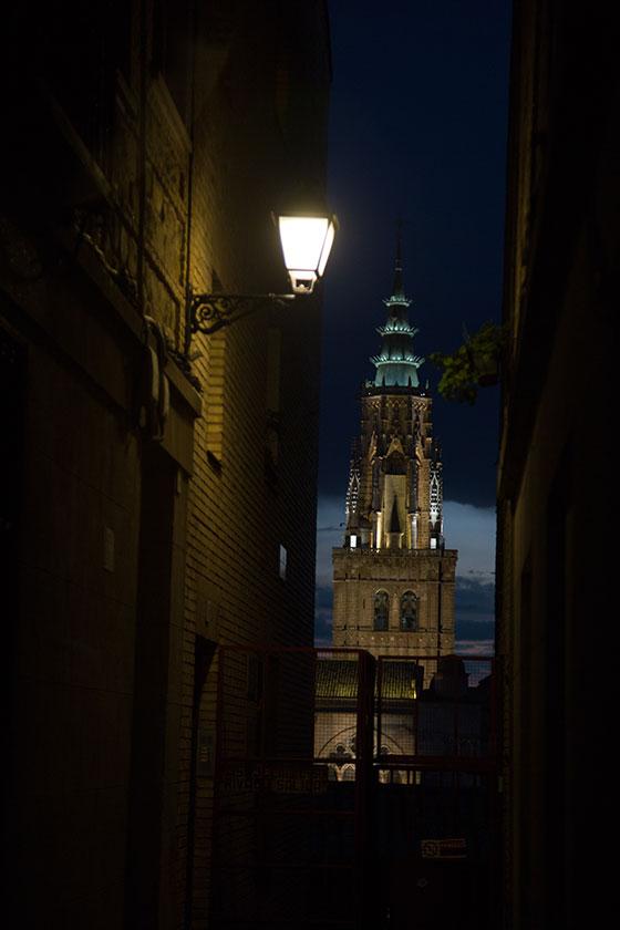 La catedral vista desde el Callejón Vinos Esquivias
