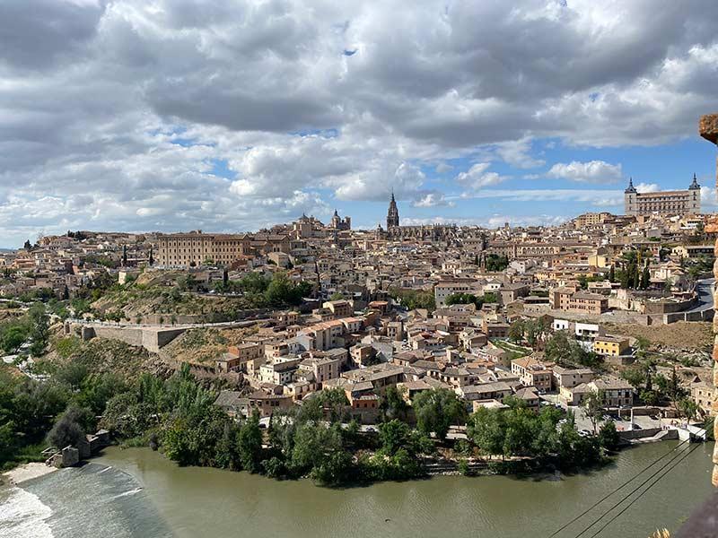 Vistas desde la ermita de nuestra señora del Valle en Toledo